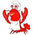 Cute lobster cartoon vector