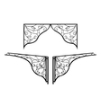 Forged metal elements of porch vector