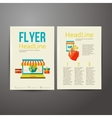 Abstract brochure flyer design online payment vector