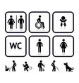Toilet icons vector