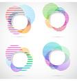 Retro striped circular design elements vector