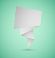 Abstract origami speech background on green vector