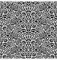 Funny black and white seamless pattern background vector