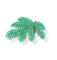 Silver spruce christmas tree symbol celebration vector