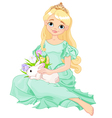 Easter princess vector
