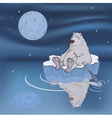 Polar bear on an ice floe vector