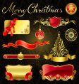 Christmas golden design elements vector
