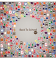 Back to school seamless children background vector