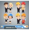 Businessmen cartoon characters set14 vector