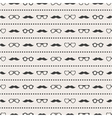 Seamless pattern of glasses and mustache vector