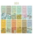 2015 calendar set vector