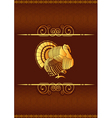 Thanksgiving turkey background vector