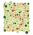Colored circles  colorful background vector