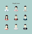 People icons in flat modern style vector