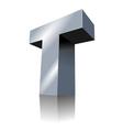 3d icon - metallic t 3 vector