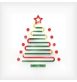 Christmas tree modern minimal line art background vector