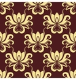 Beige and purple floral seamless pattern vector