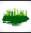 Creative design go green or save earth design vector