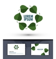 Nature leaves in the circle logo icon emblem vector