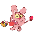 Pink bunny rabbit vector