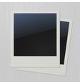 Two blank retro polaroid photo frames vector
