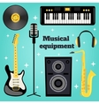Music equipment set vector