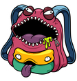 Monster bag vector
