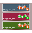 Banner set of happy new year vector