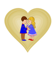 Valentines day cute figure hearts and children vector