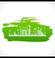 Artistic design of go green or save earth design vector