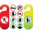 Do not disturb signs set vector