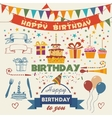 Set of birthday party flat design elements vector