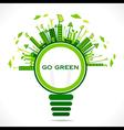 Creative design for go green or save earth concept vector