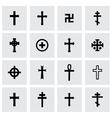 Crosses icon set vector