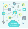 Network and server infographics vector
