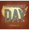 Retro poster independence day vector