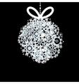 Black and white christmas ball  eps10 vector