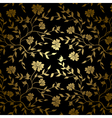 Black and gold floral texture for background vector