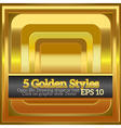 Set of rich shiny golden styles for design vector