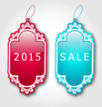 Christmas colorful discount labels with shadows vector