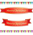 Merry christmas ribbons vector