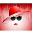 Girl in a red hat vector
