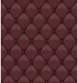 Seamless brown upholstery leather vector