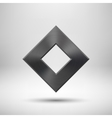 Black abstract rhombic button template vector