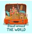 Tourist suitcase vector