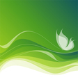 White butterfly on abstract green background ep vector