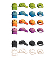 Cap template various angle vector