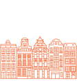 Hand drawn houses vector