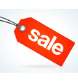 Red sale tag vector