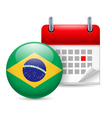 Icon of national day in brazil vector